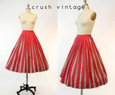 e4eb19a36 50s Nelly de Grab Skirt XS / 1950s Pleated Circle by CrushVintage 1950s  Skirt, Green
