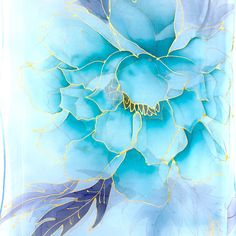 Excited to share my newest creation today! This hand painted silk scarf is ample neck scarf with dreamy Kimono Peony design. Golden outlines make this soft blue scarf perfect for parties! Blue Peonies, Alcohol Ink Crafts, Japan Art, Mandala Pattern, Flower Pictures, Fabric Painting, Watercolor Flowers, Hand Painted, Painted Silk