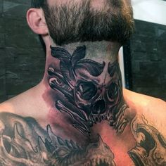 Image result for mens throat tattoo