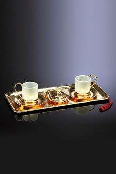 Dream Home 4'lü Kahve Seti Altın KOS01.M14A