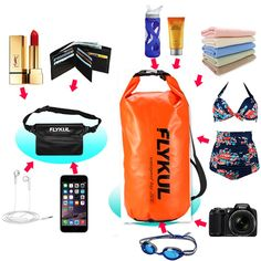 Waterproof Dry Bags With Waterproof Pouch Flykul 10L 20L Waterproof Bag  Waist Pouch Waterproof Bag 453f6d4b72c41