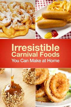 Irresistible Carnival Foods You Can Make at Home Christmas Eve 2015 theme: carnival! Good Food, Yummy Food, Tasty, Carnival Food, Carnival Birthday, Carnival Eats Recipes, Carnival Ideas, Carnival Parties, Theme Parties
