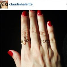 Claudinha Leitte com os anéis de nomes de de seus filhos by fabi malavazi #fabimalavazi