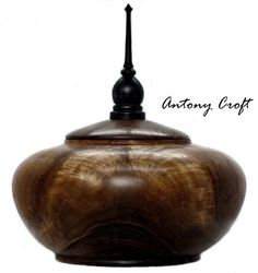 SOLD SOLD SOLD............. Walnut Wood Wooden Lidded Vessel With Ebonised Ash Finial Decoration. 5th Anniversary Gift Ideas Wedding 5th Anniversary Gift Ideas, Silver Anniversary Gifts, Walnut Oil, Wood Creations, Wood Boxes, Wood Turning, Special Occasion, Ash, Norfolk