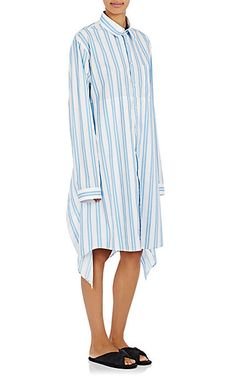 Balenciaga Multi-Way Striped Shirtdress - Dresses - 504860558
