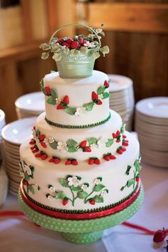 Celebrate summer's fruit with a strawberry-adorned confection.  Photo Credit: Choco Studio (=)