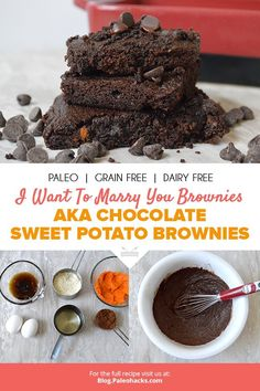 The secret behind these moist, super-chocolatey brownies? A Paleo, powerhouse ingredient: sweet potatoes!
