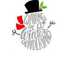 Walking in a Winter Wonderland Vinyl Decal, Christmas Craft Sticker, Snowman Decal, Craft Project Idea