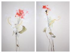 Poppy I and II - 14x11 - sold