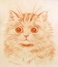Louis Wain style Cat tattoo (Margot).