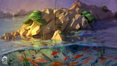 pond low poly by conzitool on deviantART