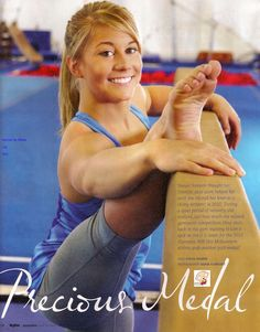 Shawn Johnson, 4-time medalist at the 2008 Beijing Summer Olympics in women's gymnastics - gold in balance beam apparatus finals; silver in team final, all-around and floor exercise