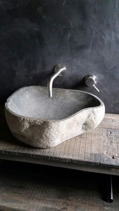 The Design Of This Natural Stone Sink Is Inspiredthe Shape Of Prepossessing Designer Bathroom Sink Inspiration
