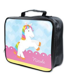 Take a look at this Rainbow Pony Soft Personalized Lunch Box by Spark & Spark on #zulily today!