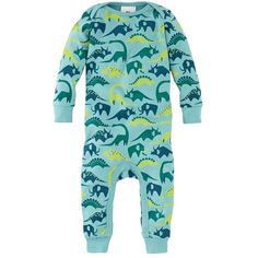 Dinosaurier Baby Pajamas ($35) ❤ liked on Polyvore featuring baby boy