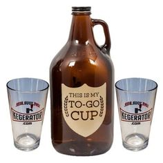 My To Go Cup Growler and Pint Glass Gift Set