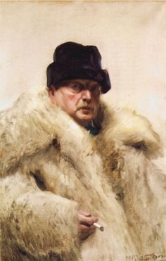 Self-portrait in a wolfskin - Anders Zorn