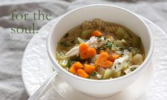 Cute heart shaped carrots in this chicken soup recipe...Valentine's Day lunch...