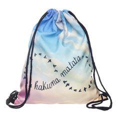 Who Cares 3D Printing Backpack Women Hakuna Matata Infinity Drawstring Bag  Fashion Casual Mochila Feminina Girl 5b8c76422c0d7
