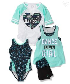 Give the gift of dance with made to match leotards, tanks, tees and shorts! Online exclusive.