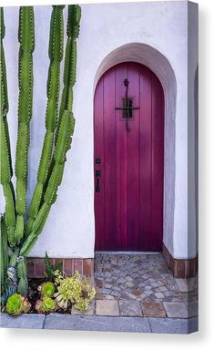 Front Door Mats, Front Door Entrance, Front Door Decor, Entry Doors, Garage Doors, House Entrance, Front Porch, Purple Front Doors, Front Door Colors