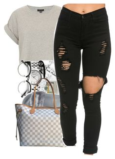 Ehh..... by trillxassxbitch on Polyvore featuring polyvore fashion style Topshop Puma Louis Vuitton clothing