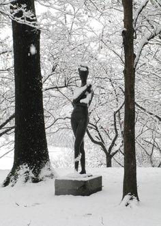 Emilio Greco, Large Bather No. Emilio Greco, Storm King Art Center, Roman Art, Winter, Mindset, Snow, Culture, Portrait, Winter Time