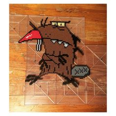 The Angry Beavers perler beads by nightofthelivingdread