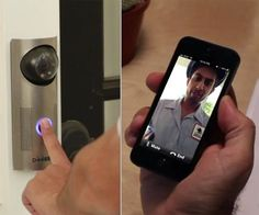 Answer your doorbell from your smartphone with Doorbot. #tech #homedecor #gadget