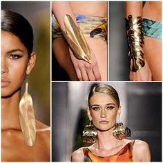 Agua de CoCo Sao Paulo Fashion Week : Gold jewelry