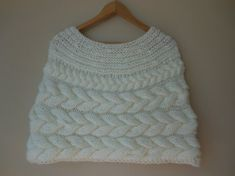 Cable Knitted Shawl Capelet Shrug Poncho Perfect for a wedding dress, evening dress, but also for everyday jeans or dresses. Made of two mohair threads, thick and warm. Easter Crochet, Hand Crochet, Wedding Shrug, Crochet World, Capelet, Knitted Shawls, Neck Warmer, Cable Knit, Evening Dresses