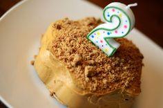 Banana Birthday Cake For Dogs ~ Dog friendly peanut butter banana birthday cake for lola s