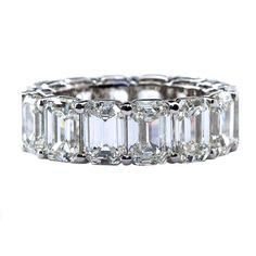 Emerald Cut Eternity Diamond Band TMW Jewels CO