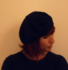 Blue French Beret $25