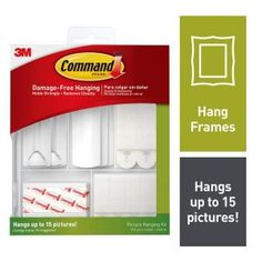 Command Picture Hanging Kit for Picture Frames and Posters, White, 38 Piece Kit - Hangs up to 15 Pictures in Picture Hangers. Dorm Room Organization, Storage Organization, Organizing, Easy Storage, Mirror Hanging Kit, Command Hooks, Hung Up, Nail Holes, Picture Hangers