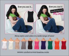 Undercover Mama Nursing Shirt: MAKE ANY SHIRT A NURSING SHIRT! Love these!! Makes nursing or pumping in a public place so much easier!!