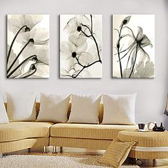 Stretched Canvas Print Botanical Dried Floral Set of 3 1301-0228 – USD $ 66.99