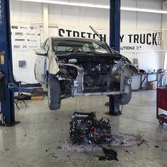the Prius took a dump on my shop floor. Diesel Brothers, Diesel Trucks, Monster Trucks, I Shop, Take That, Floor, Instagram Posts, Shopping, Pavement