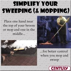 The mop and broom holding technique you need to cut cleaning time and reduce stress on your body