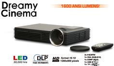 """The Dreamvision Dreamy """"Cinema"""" video-projector. 3D, LED, HD-Ready, portable, multi-media."""