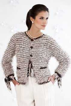 Knitting Pattern Chanel Style Jacket : CHANEL on Pinterest Chanel Jacket, Chanel and Crochet Jacket
