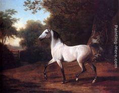 jacques laurent agasse art | Jacques-Laurent Agasse Paintings - Jacques-Laurent Agasse A Grey Arab ...