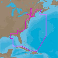 C-MAP 4D NA-D022 - USA East Coast & Bahamas - Full Content