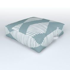 Acoustic Wave Blue Outdoor Floor Cushion by Coffee Break Studio - x x Outdoor Floor Cushions, Floor Pillows, Acoustic Wave, Waves, Yard, Weather, Handle, Comfy, Turquoise