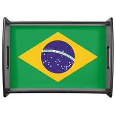 Brazil flag Brazilian tray