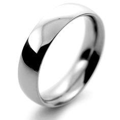 Palladium Wedding Ring Traditional Court Heavy - 5mm