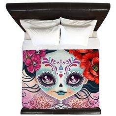 CafePress  Amelia Calavera Sugar Skull  King Duvet Cover Printed Comforter Cover Unique Bedding Lightweight -- See this great product.