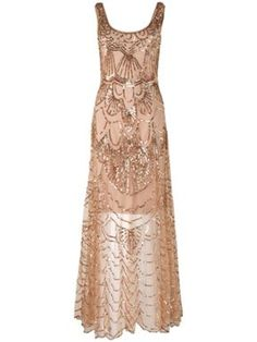Phase Eight Cinderella beaded dress Gold - House of Fraser
