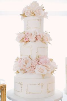 Rose infused wedding cake: http://www.stylemepretty.com/living/2017/03/03/insider-tips-for-pulling-off-the-best-ever-dinner-party/ Photography: Artiese Studio - http://www.artiesestudios.com/