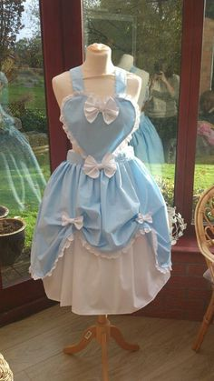 Hey, I found this really awesome Etsy listing at https://www.etsy.com/listing/154440182/lolita-heart-pinafore-in-blue-and-white